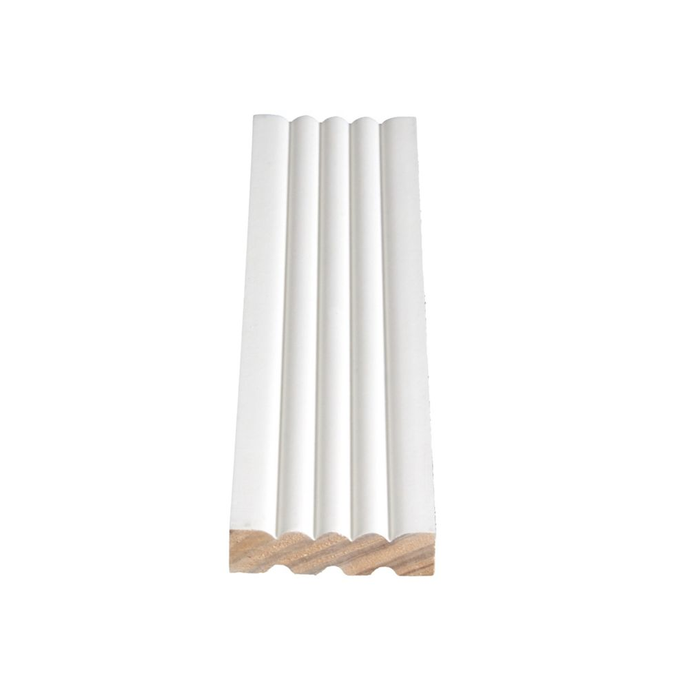 Primed Finger Jointed Pine Fluted Casing 9/16 In. x 2-1/4 In. (Price per linear foot)