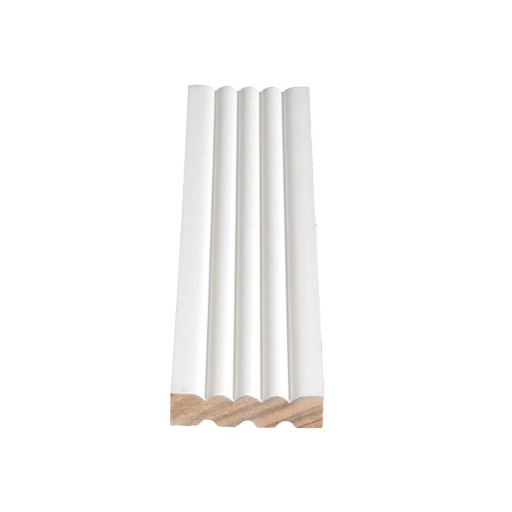 Dormant cannelé en pin, apprêté et jointé - 9/16 x 2 1/4 (Prix par pied)