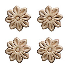 Embossed Small Tudor Rose 1-1/2 X 1-1/2 - 4 Pc Per Card