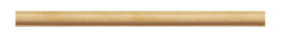 Moulure panneau en bois blanc dur de style colonial 3/16 po X 3/8 po - prix par pièce 8 pied