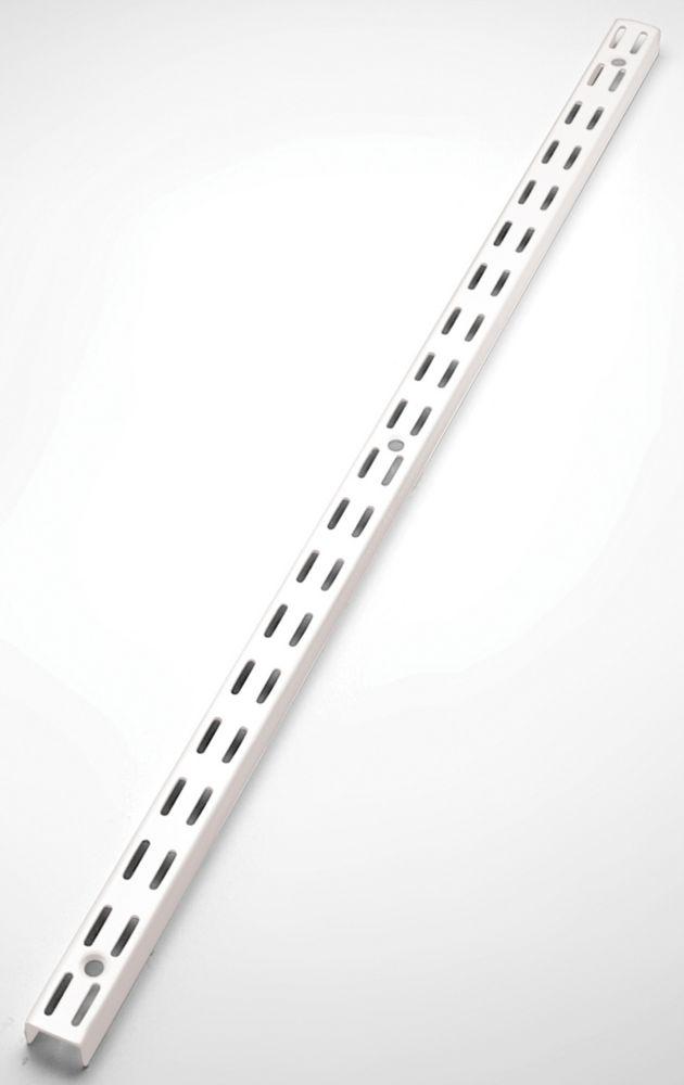 25 Inch White Twin Track Upright