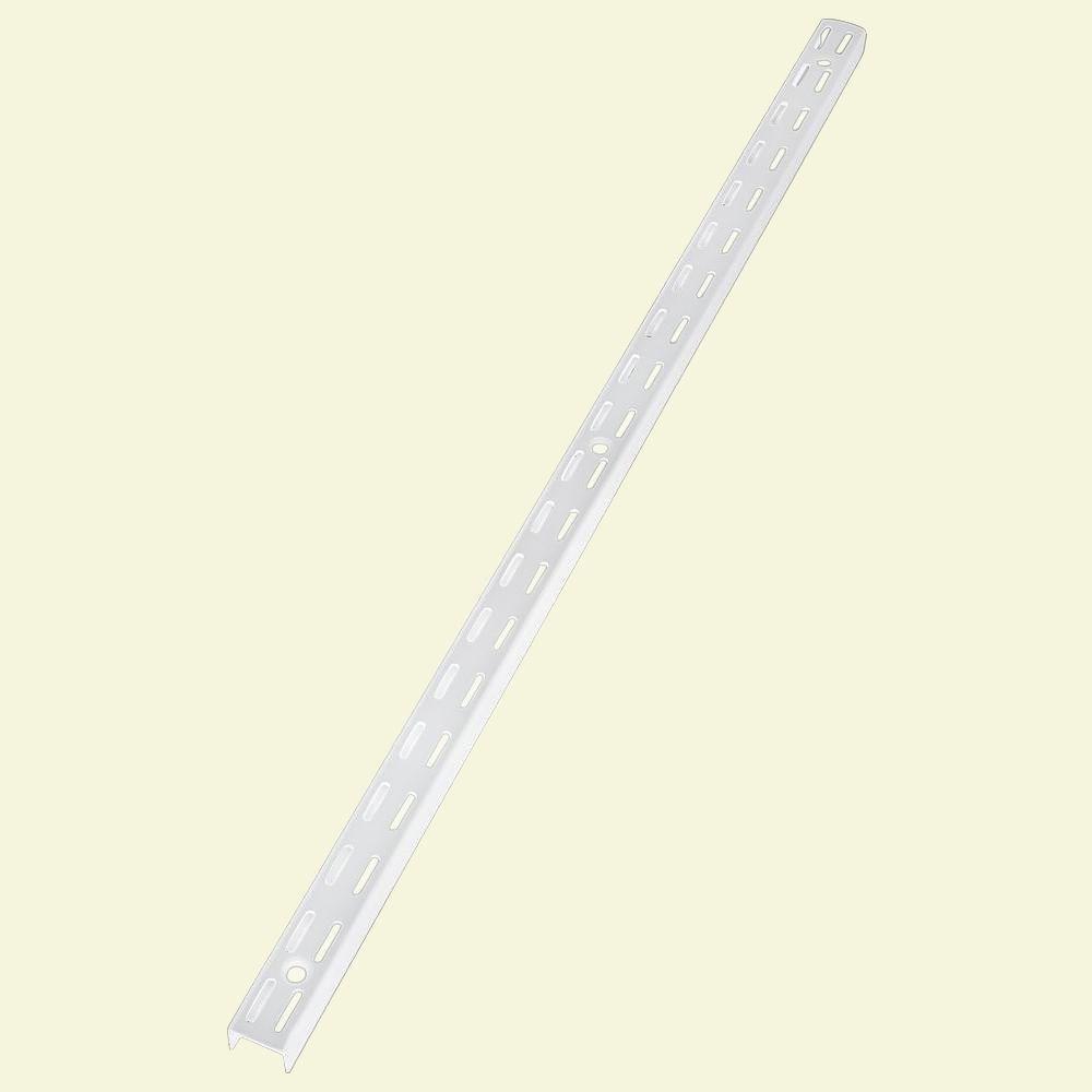 47.5 Inch White Twin Track Upright