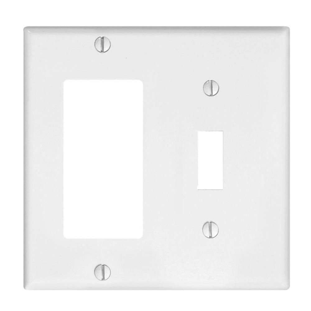Leviton Combination Decora Plate, White