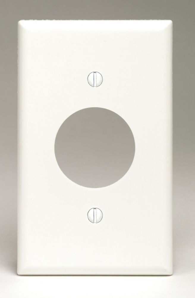 Plaque Pour Une Prise Simple, Blanc