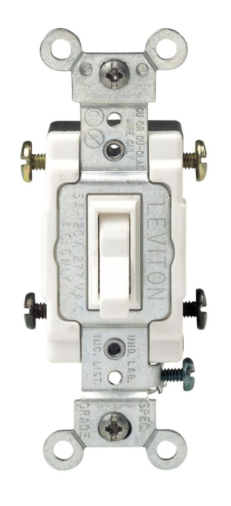 Leviton 4 Way Toggle Switch White The Home Depot Canada