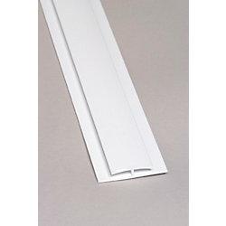 EXCELiner Divider Bar PVC White Moulding 8 Ft.