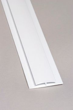 Divider Bar PVC White Moulding 8 Ft.