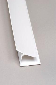 Inside Corner PVC White Moulding 8 Ft.