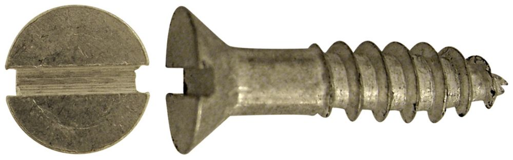 8X3/4 Flat Slot Hd Aluminum Screw