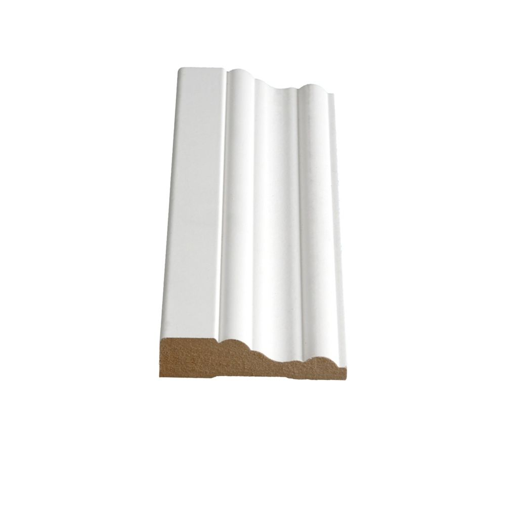 Primed Fibreboard Colonial Casing 3/4 In. x 3 In. x 8 Ft.