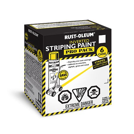 Striping Paint - Yellow (510g) Contractor Pack (6 Pack)