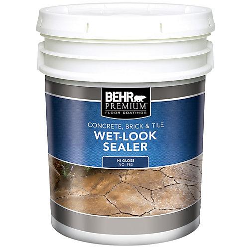 PREMIUM Concrete, Brick & Tile Wet-Look Sealer, High-Gloss - 18.9 L