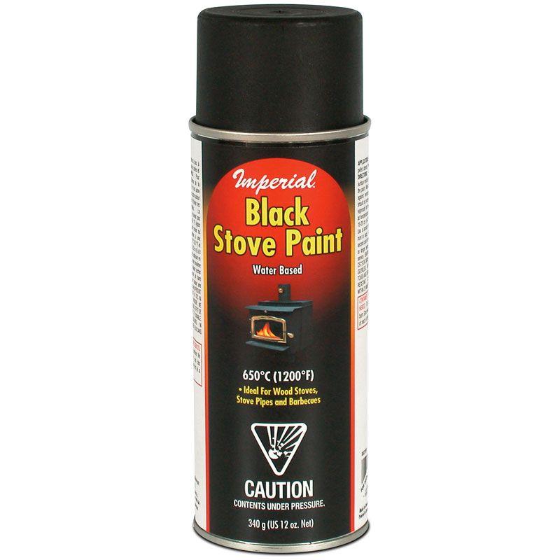 Peinture noire en aérosol pour poêle (à base d'eau) 340 g (12 oz. liq.)