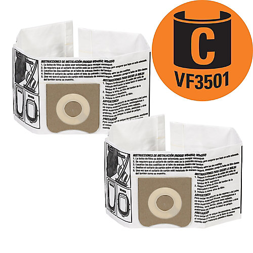 Vacuum Dust Bags VF3501 Type C - 11 L to 17 L (2-Pack)