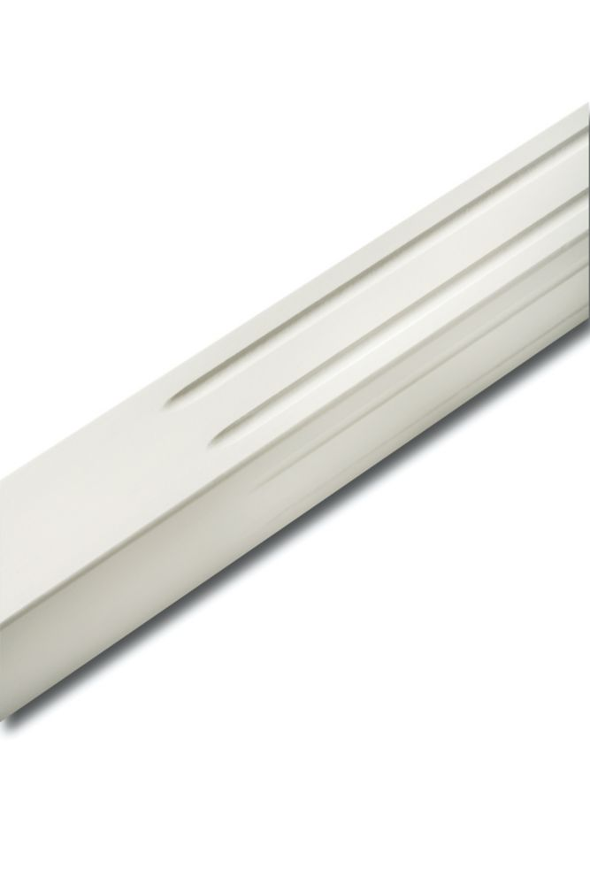 White Lacquered Square Fluted Baluster 1-1/2 In. x 1-1/2 In. x 36 In.