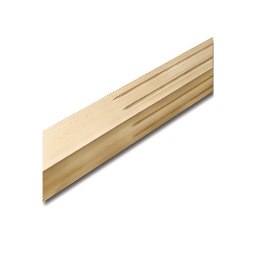 Hemlock Square Fluted Newel Post 3 In. x 3 In. x 50 In.