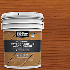 BEHR PREMIUM TRANSPARENT WEATHERPROOFING WOOD FINISH, CEDAR NATURALTONE, 18.9 L