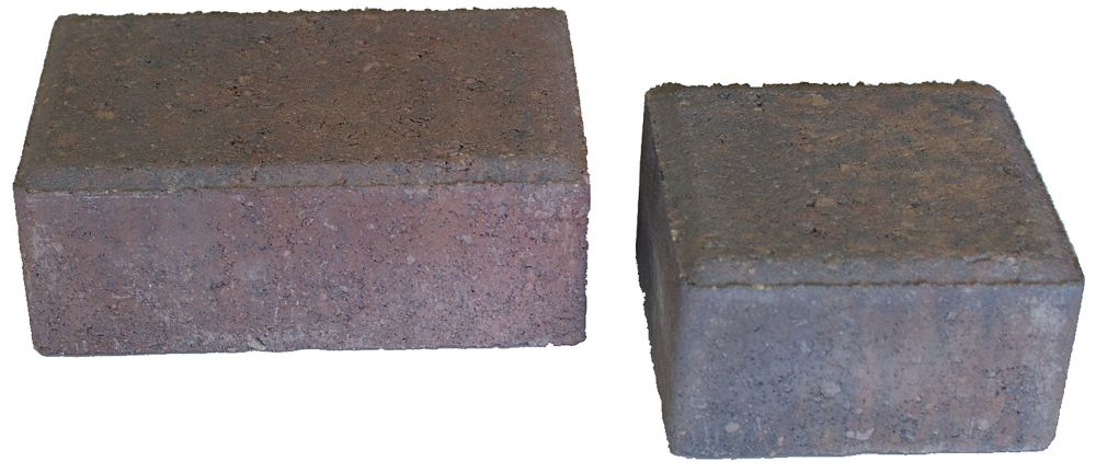 Cindercrete Cobblestone Paver- Set- Red/Tan/Charcoal