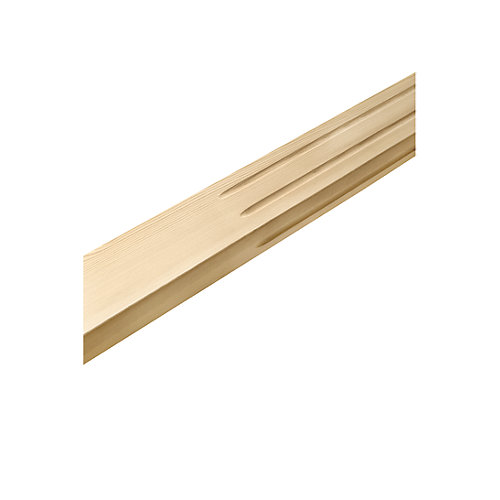 Hemlock Square Fluted Half Newel Post 1/2 In. x 3 In. x 41 In.