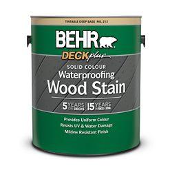 BEHR DECKplus - teinture imperméabilisante pour bois de couleur opaque - Base foncée no 213, 3,79 L