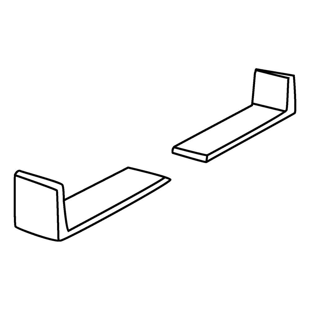 Wooden drawers white nylon plastic corners