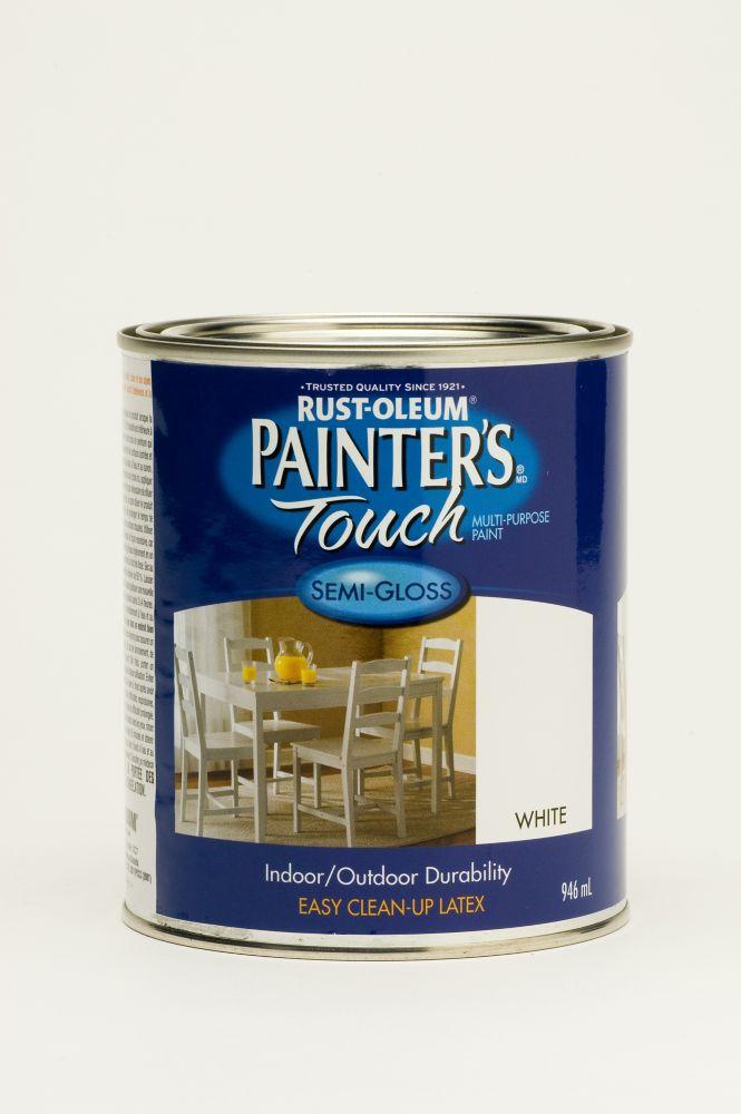 Rust-Oleum Painter's Touch Multi-Purpose Paint - Semi-Gloss White (946ml)