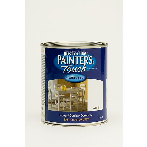 Painter's Touch General Purpose Paint In Semi-Gloss White, 946 Ml
