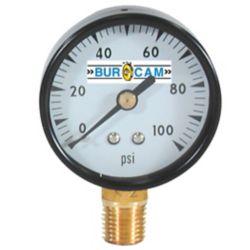 Bur-Cam 1/4 Inch Pressure Gauge