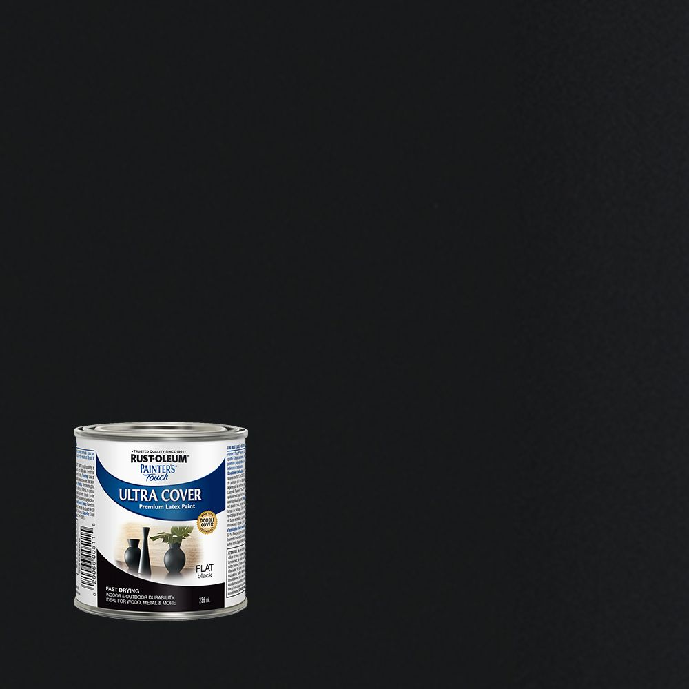 Painter's Touch Multi-Purpose Paint - Flat Black (236ml)