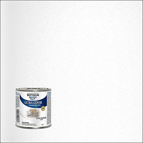 Painter's Touch Multi Purpose Paint In Semi-Gloss White, 236 mL