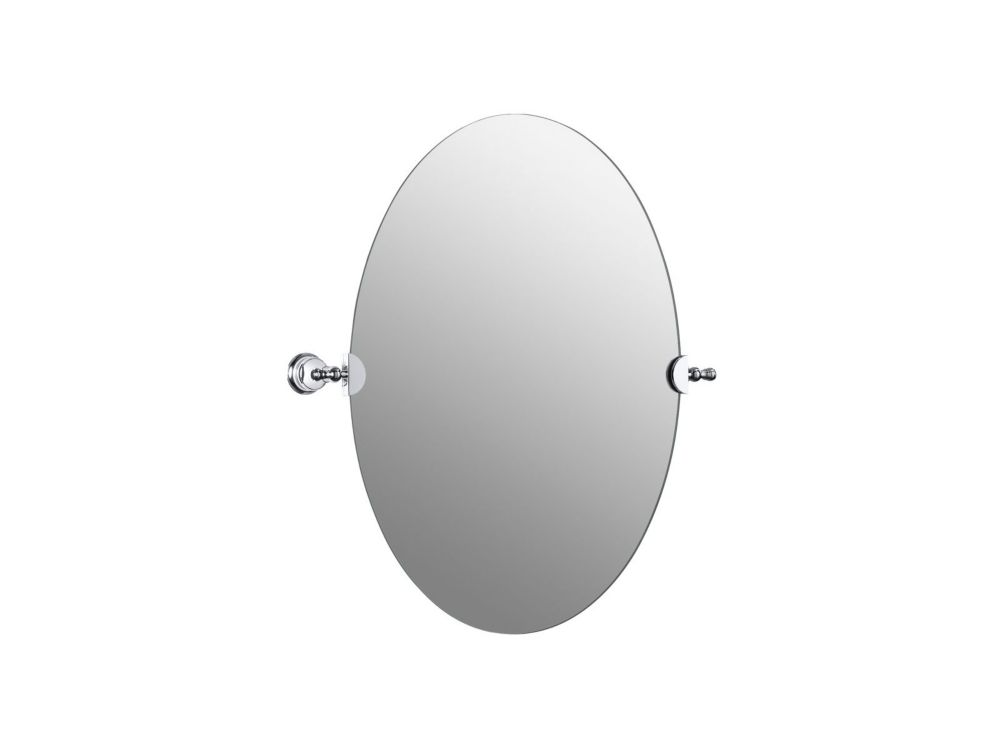 Revival Oval Mirror in Polished Chrome