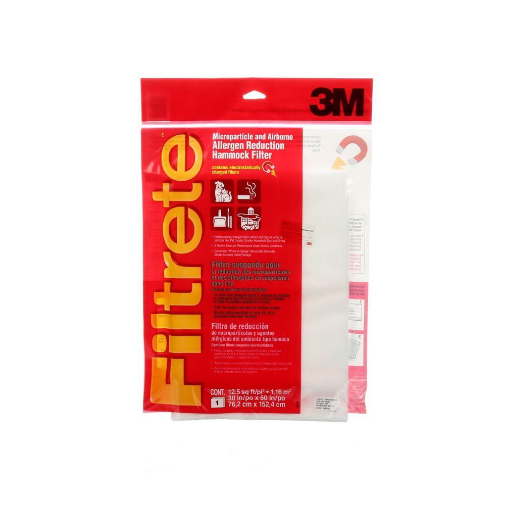 Filtre suspendu de réduction des microparticules et allergènes aériens FiltreteMC, MPR1000, 30x60...