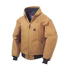 Brown Hooded Bomber Jacket - Large