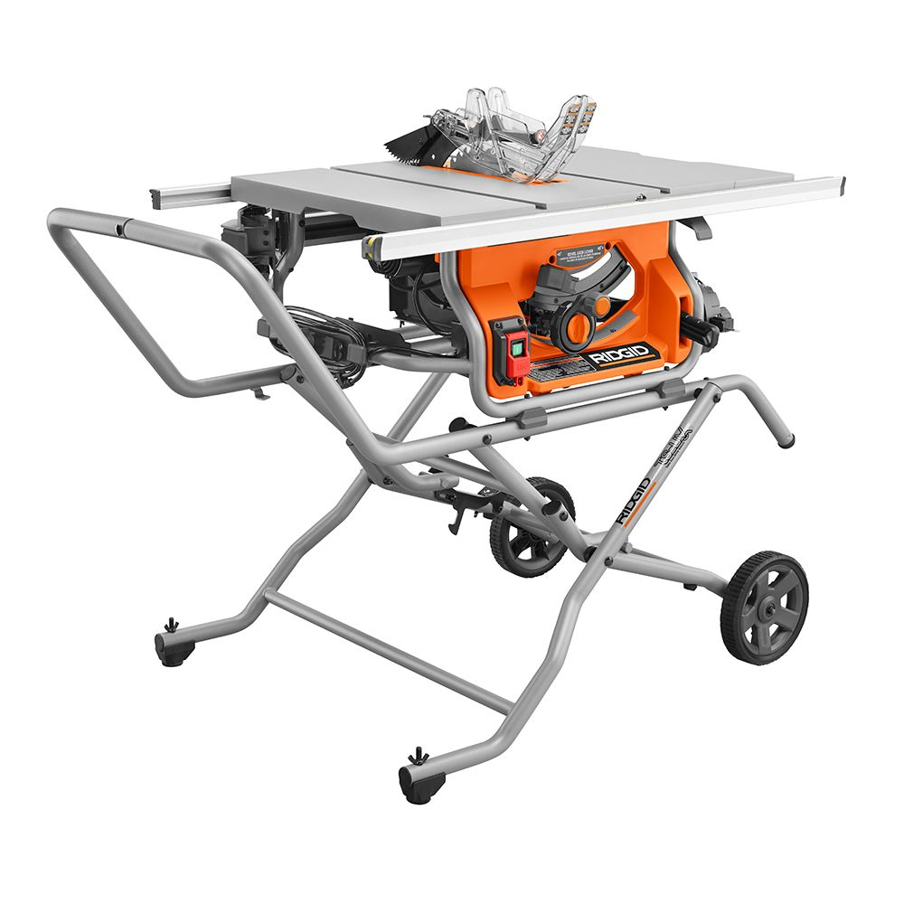 Ridgid 10 Inch Portable Table Saw With Stand The Home Depot Canada