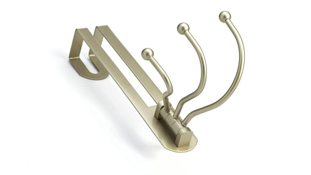 Levier de porte « Accent » à serrure en nickel satiné