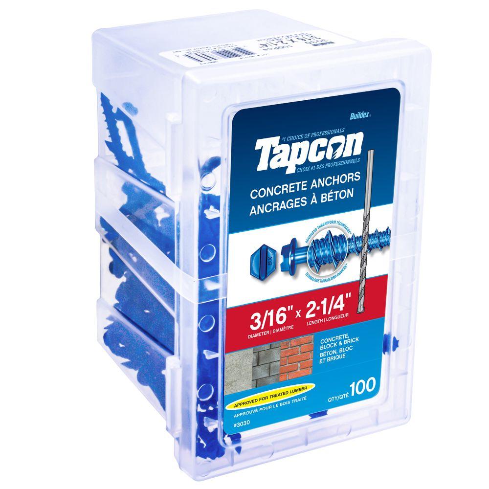Cheville pour béton 3/16 X 2 1/4 Hex Tapcon<sup>®</sup>