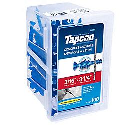 Paulin 3/16 X 3 1/4 Flat Head Tapcon Concrete Anchor