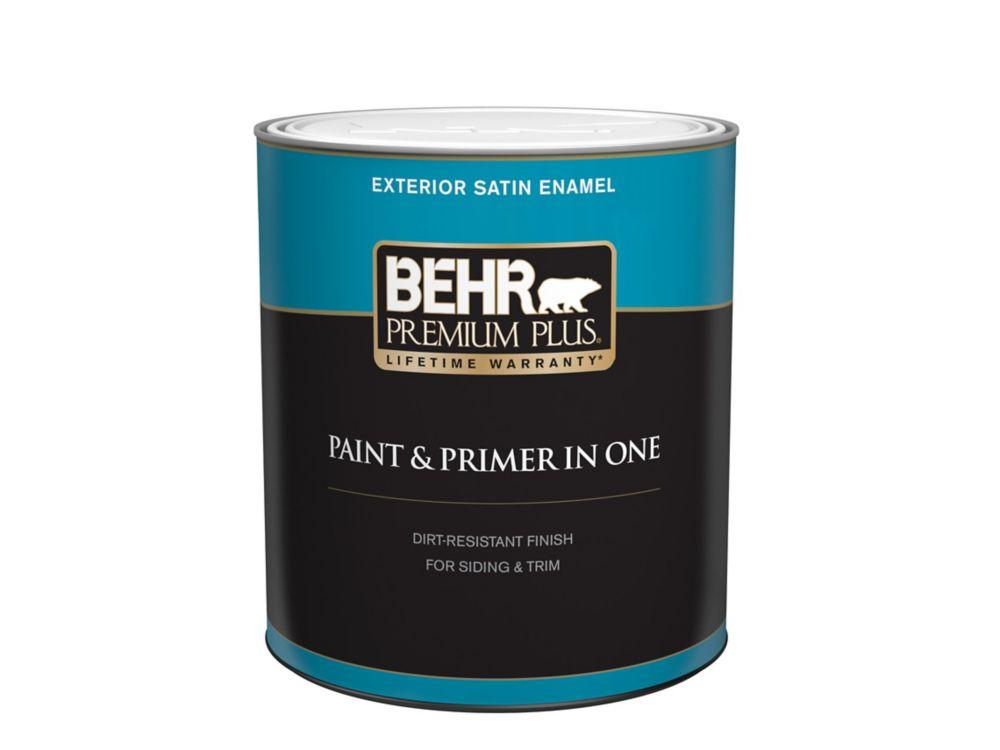 Exterior Paint & Primer in One, Satin Enamel - Deep Base, 946 mL
