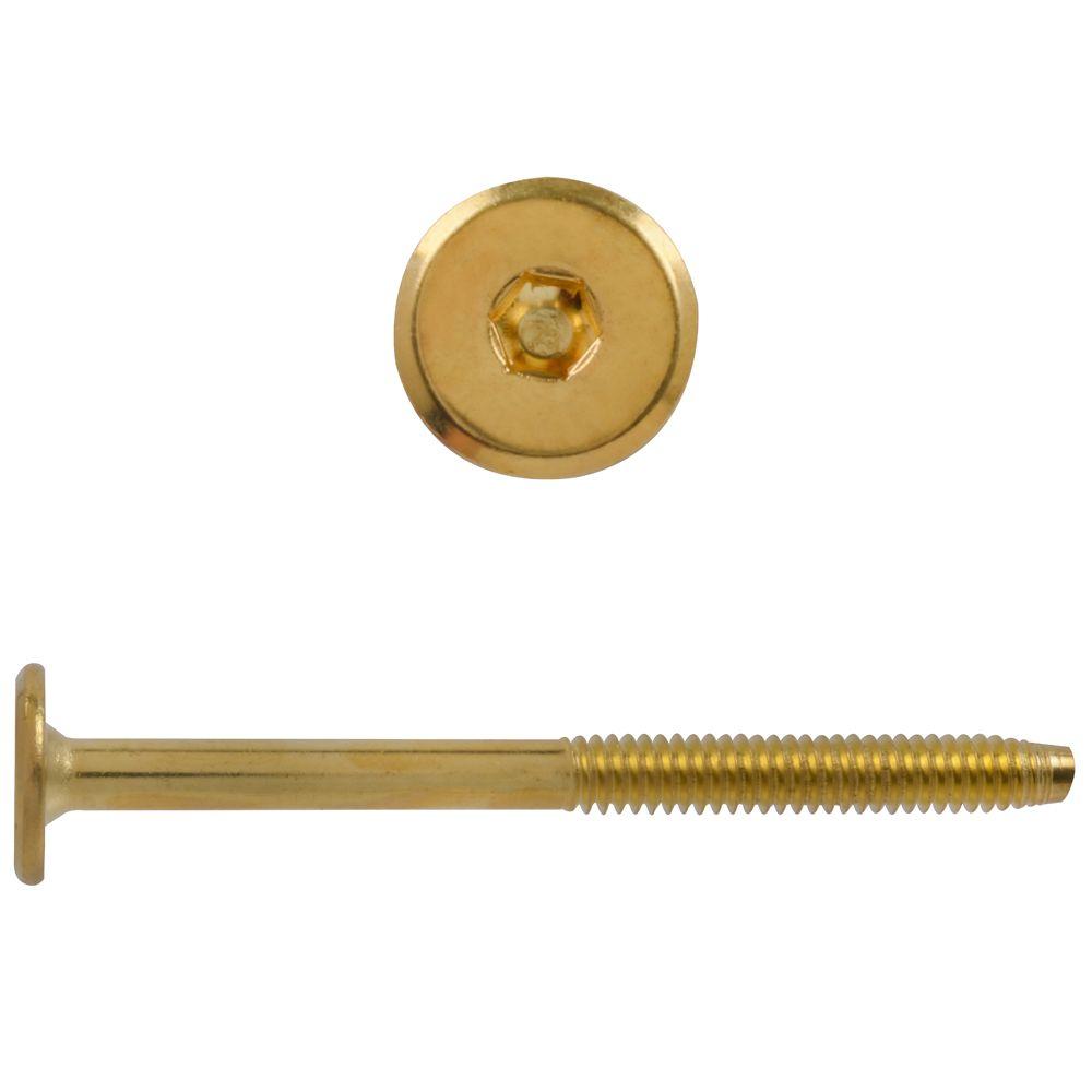 1/4X3-1/4 Connector Bolt Brass Pltd