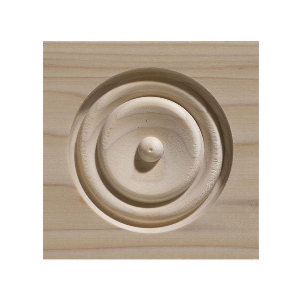 Bloc de coin en bois blanc dur - 4-1/2 x 4-1/2 po