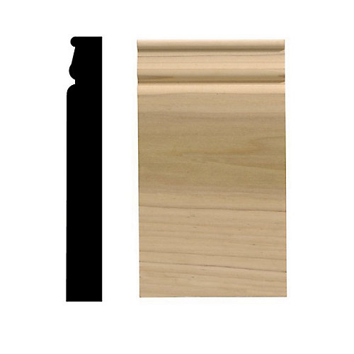 Colonial Plinth Block, 4 1/2 Inch X 8 Inch, White Hardwood