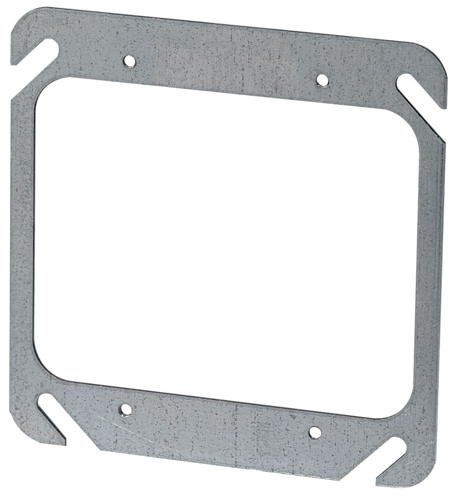 4 In. Square Two Device Flat Cover