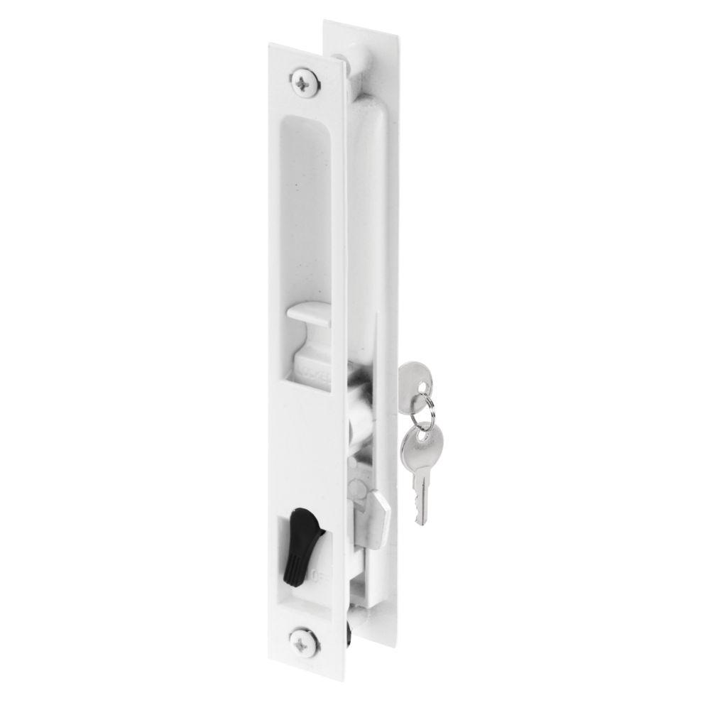 White Patio Door Flush Lock