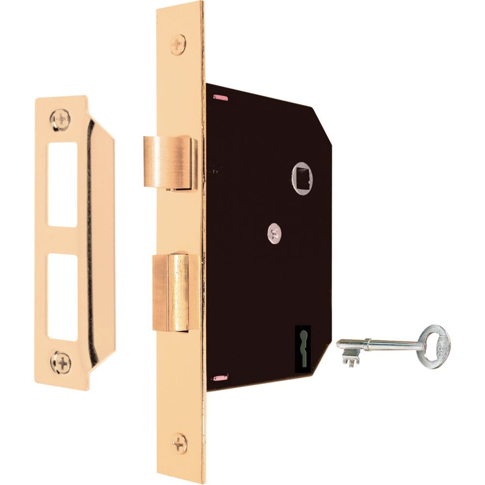 Mortise Case Lock with Brass Plated Faceplate