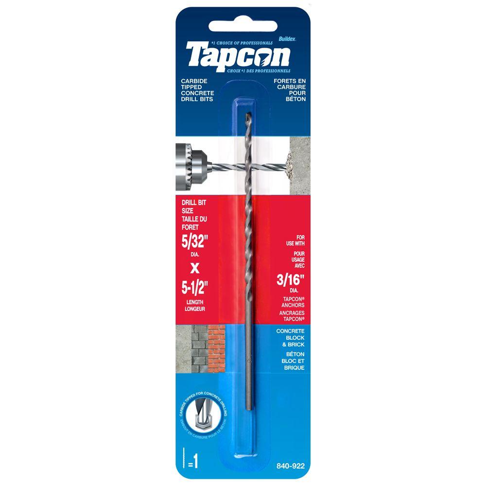 5/32-inch x 5 1/2-inches Tapcon<sup>®</sup> Drill Bit