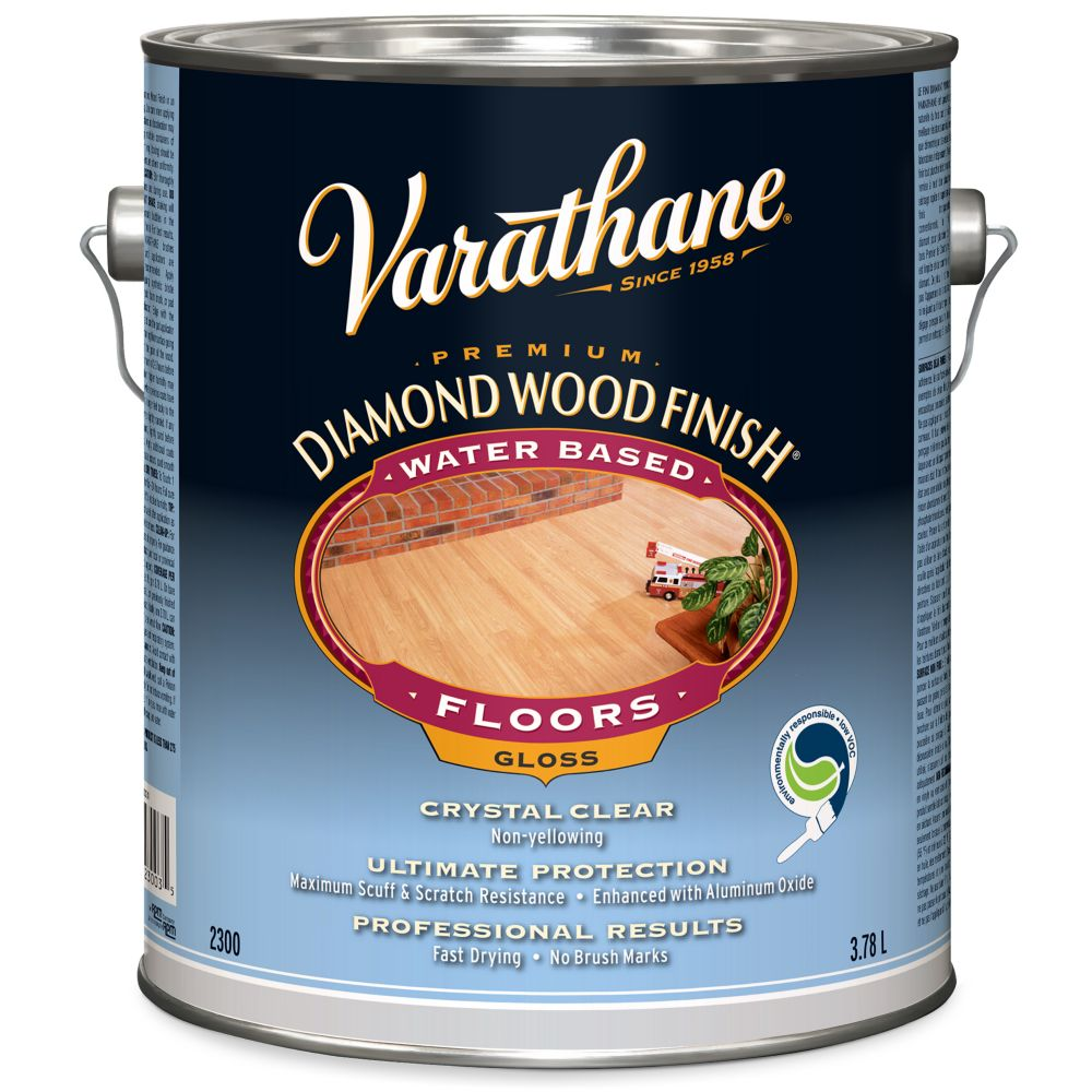Varathane Diamond Wood Finish - Floor (Water, Gloss) (3.78L)