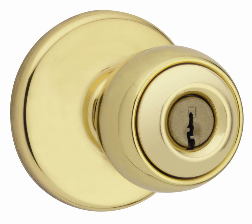 Yukon Bright Brass Keyed Entry Knob Set