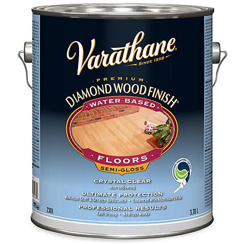 Premium Diamond Wood Finish For Floors, Water-Based In Semi-Gloss Clear, 3.78 L