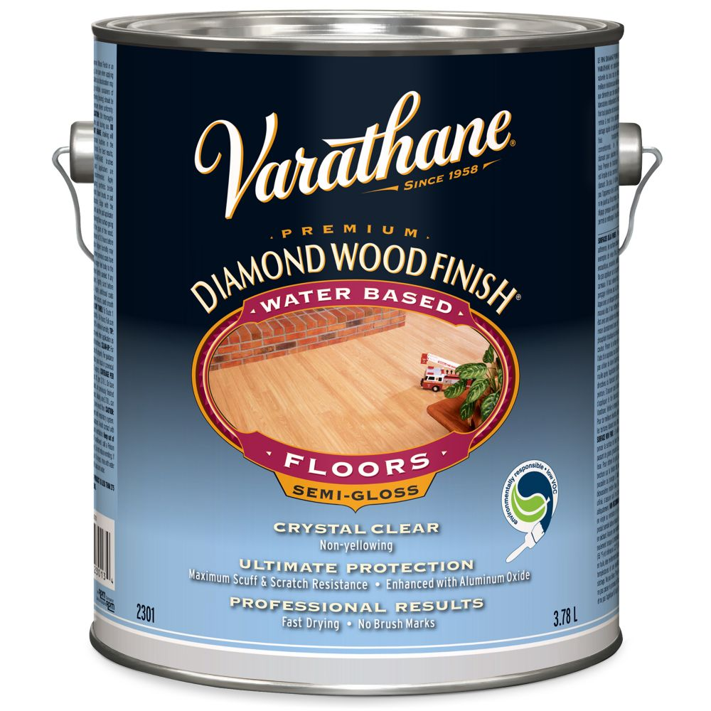 Varathane Diamond Wood Finish - Floor (Water, Semi-Gloss) (3.78L)