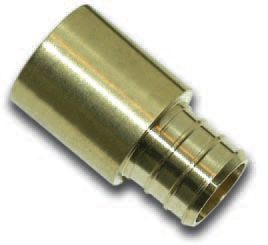 3/4 Inch Male Sweat X 3/4 Inch Barb Adapter Coupling